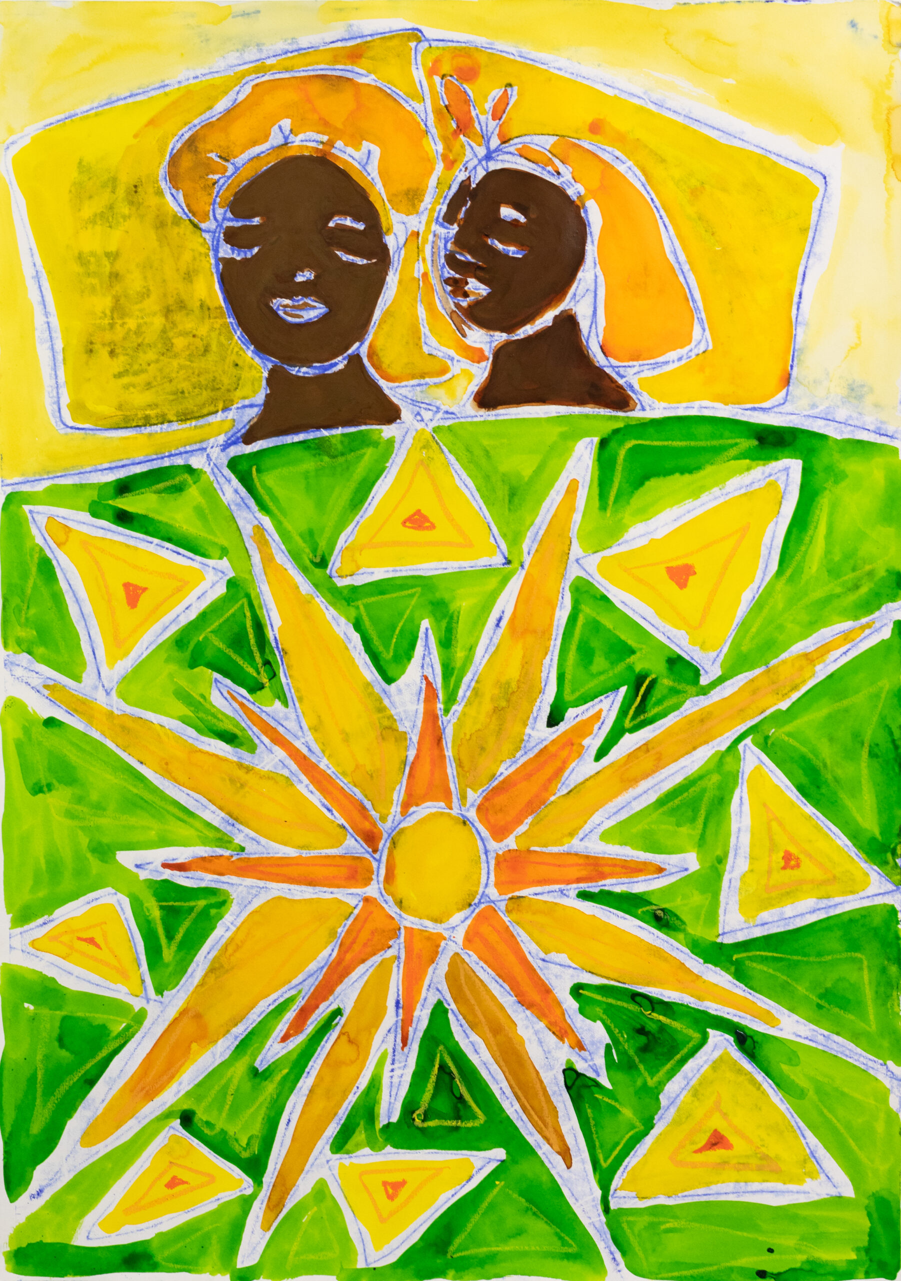 Sola Olulode-Funky Covers-A1 Monoprint on Paper-2021-Volta