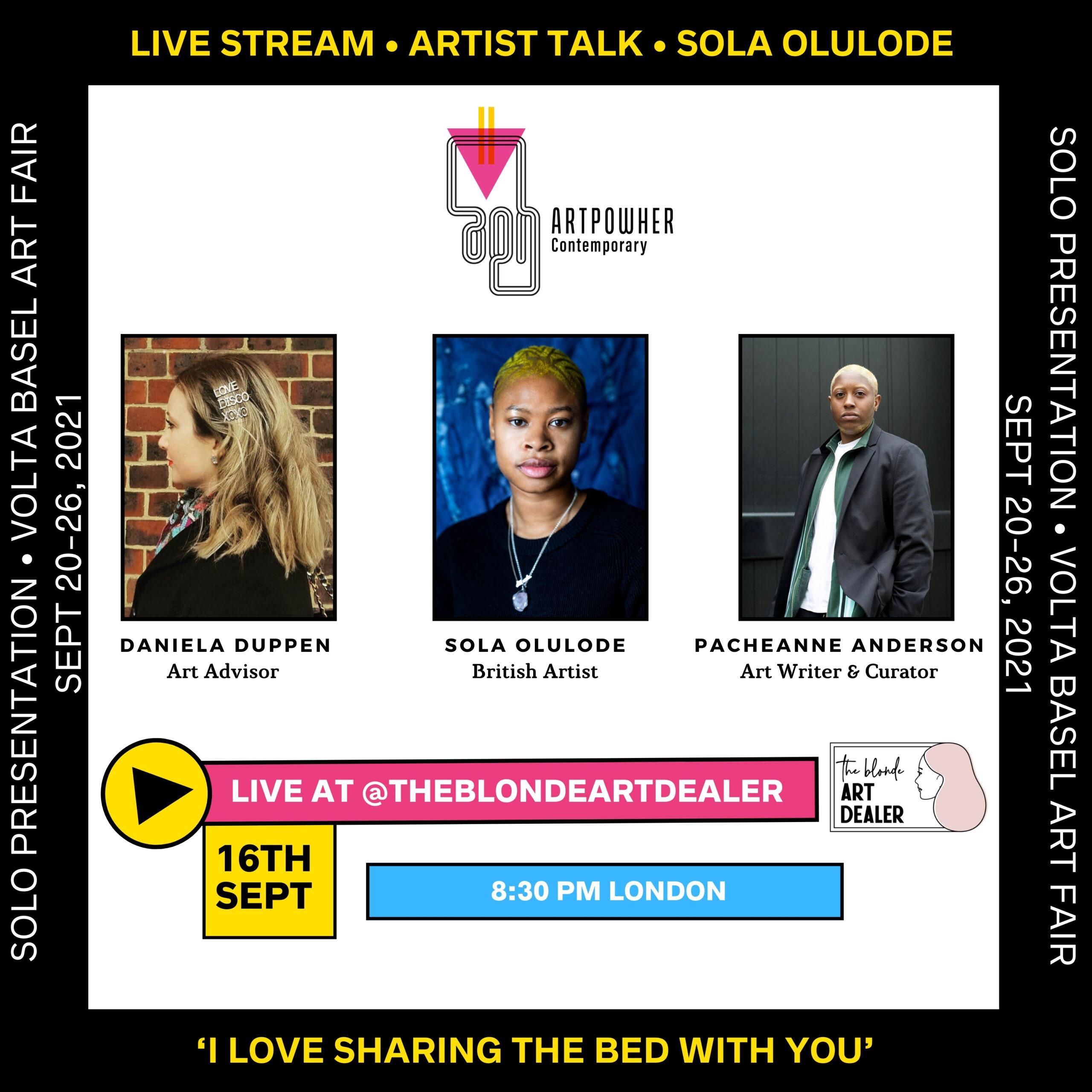 Sola Olulode-Live Stream Instagram-September 16