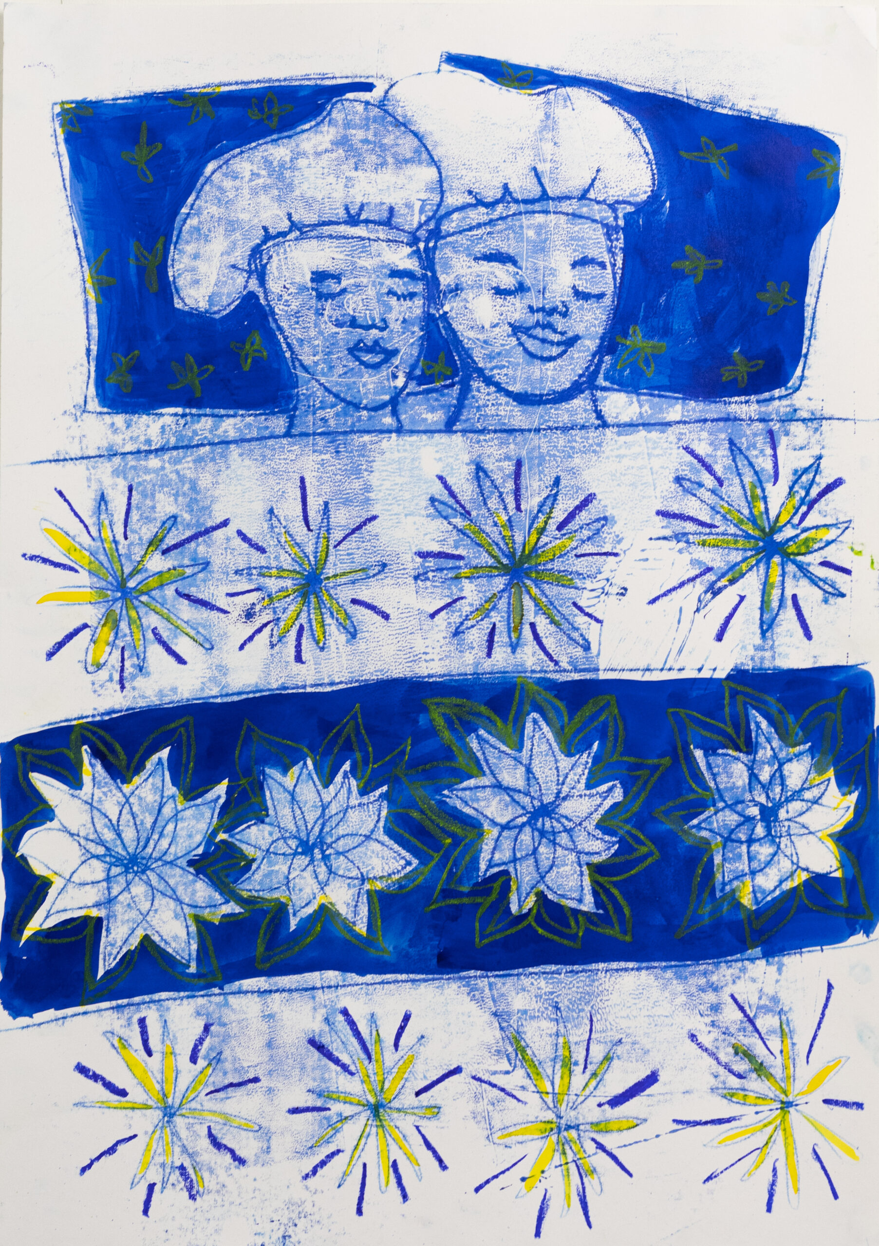 Sola Olulode-Inseparable-A1 Monoprint on Paper-2021-Volta