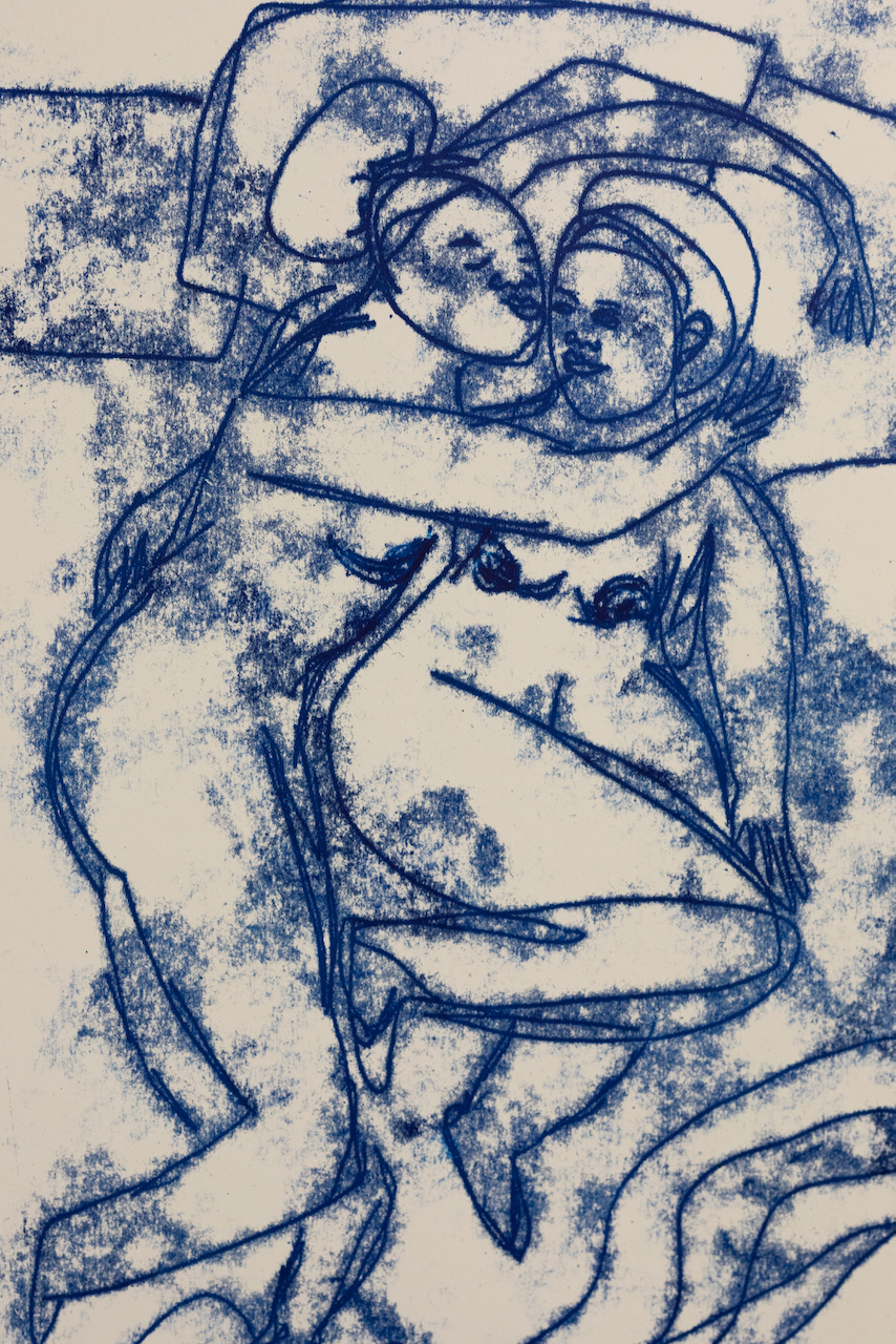 Sola Olulode-Sleep Sequence- A3 Monoprint on Paper-Volta