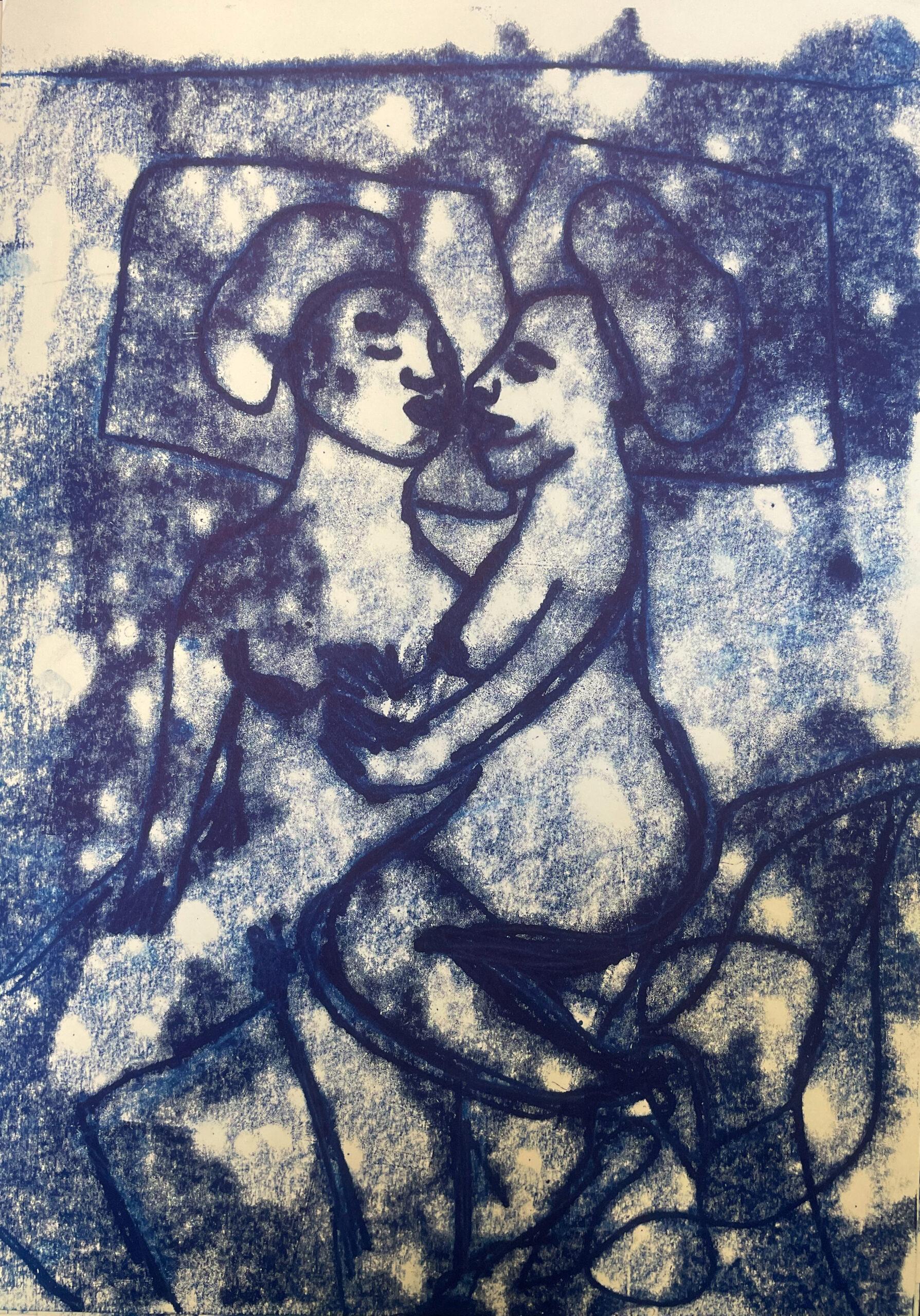 Sola Oluldoe-Extra Work-Monoprint on paper A3-29.7x42 - Impress me Deeper-Volta Basel