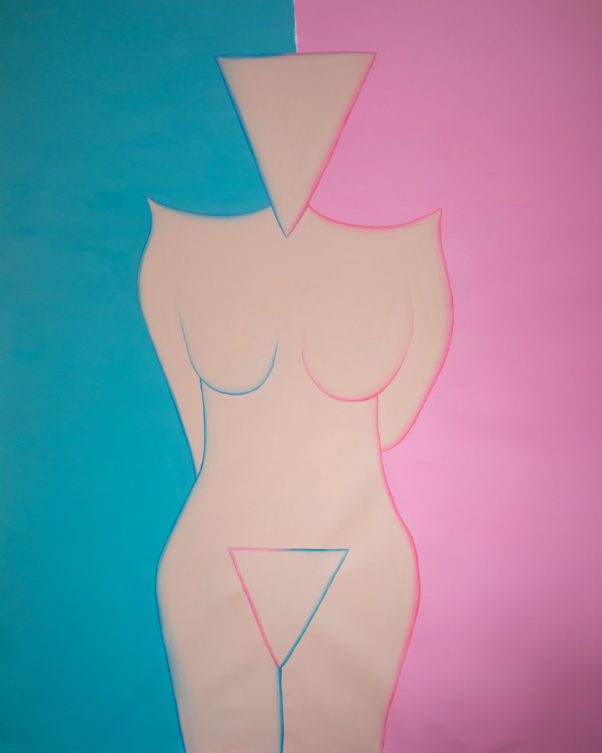 annique-delphine-The Opposite of Less 2020 - Arcylic on canvas - 150 - 175 cm